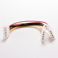 Universal 4 Pin IDE 1-to-2 Power Supply Y Splitter Extension Cable CAWB