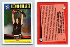 Paige #18 WWE Heritage 2016 Topps Record Breaker Card
