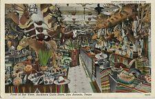 Vintage Postcard - Front of Bar View - Buckhorn Curio Store - San Antonio TX