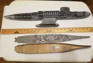 Junkyard MODEL SUBMARINES Revell 1953 & Renwal Blueprint 351 Pieces As-Found