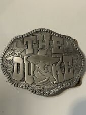 "John Wayne ""The Duke"" Solid Metal Belt Buckle Pewter/Gray in Color"