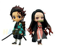 "2pcs Demon Slayer Kimetsu no Yaiba Kamado Nezuko Tanjirou 4"" Figure Model Toy"