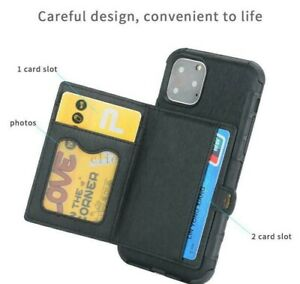 For iPhone 12 11 Pro XS MAX XR X 7 8 Plus Wallet Leather Case Card Holder Cover