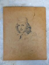 3 DRAWINGS BY McCLELLAND BARCLAY OF  MIAMI BEACH SOCIALITE