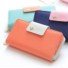 Women Purse Leather Colorful Clutch Handbag Zip Button phone wallet :D