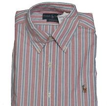 Polo Ralph Lauren Long Sleeve Button Mens Oxford Classic Fit Striped Dress  Shirt Regular 14 1