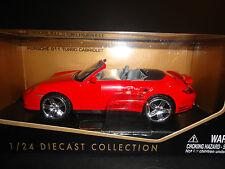 MOTORMAX PORSCHE 911 TURBO convertibel rouge 1/24
