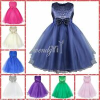 Flower Girl Dress Sequins Birthday Wedding Bridesmaid Formal Pageant Graduation