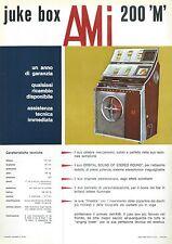 Volantino Pubblicitario (Sheet) Juke Box AMI 200 'M' - 1970 circa