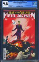 Year of the Villain Hell Arisen 3 (DC) CGC 9.8 WP 2nd Print, 1st full Punchline