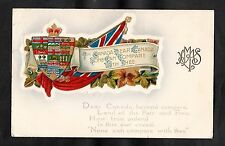 C1910 Greetings Card - 'Dear Canada None can compare with thee'