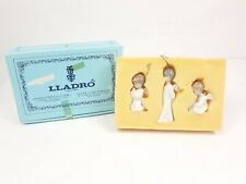 Lladro Miniangelitos Set Of 3 Angels 1.604 Porcelain Christmas Ornaments Mint!