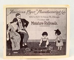 1980 Reprint of 1914 American Flyer Manufacturing Co Miniature Railroads Catalog
