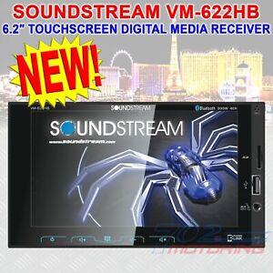 """SOUNDSTREAM 6.2"""" TOUCHSCREEN IN-DASH 2-DIN DIGITAL MULIMEDIA RECEIVER VM-622HB"""