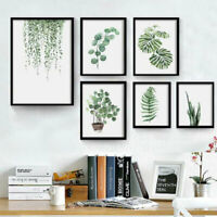 Green Leaf Plants Canvas Nordic Art Print Poster Painting Wall Pictures Decor