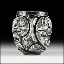 Lalique Studio France Signed Crystal Tourbillons Vase Cristallerie Glass Rene