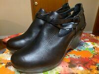 dansko Franka Black Leather Wedge Heel Shoes size 11.5-12 M (42)