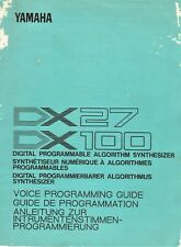 YAMAHA DX27/100, Digital Programmable Synth. Voice Program Guide, Fair Condition