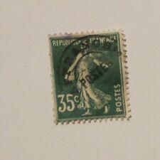 Timbre neuf France préobliteré  35 C vert type semeuse  avec charnière FOM