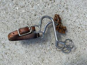 REINSMAN #964 Leather Nose S Hack / Hackamore ~ Trail Ride / Barrel Horse