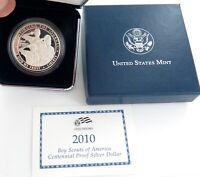 .2010 BOY SCOUTS of AMERICA CENTENNIAL PROOF SILVER $1. 90% SILVER.