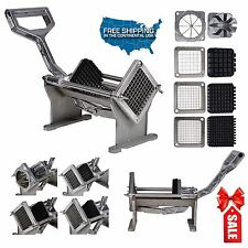Commercial Quality French Fry Potato Cutter Fruits Vegetables Slicer w 4 Blades