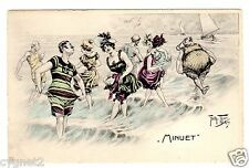 "POSTCARD THIELE BEACH BATHERS DANCE ""MINUET"""