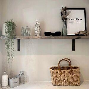 Shelf + Brackets Rustic Shelves Industrial Scaffold Board Solid Wood DRIFTWOOD