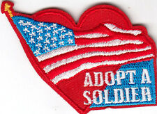 """""""ADOPT A SOLDIER"""" - MILITARY - PATRIOTIC - ARMY - IRON ON EMBROIDERED PATCH"""