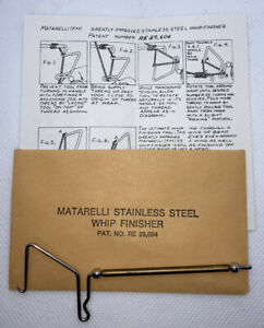 Genuine Vintage Frank Matarelli Whip Finisher for Fly Tying With Original Papers