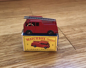 Vintage Lesney Matchbox Marquis Series III Fire Engine No. 9 with Box