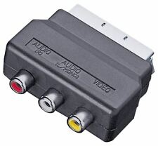 Electrovision Scart Plug to 3 Phono Sockets Adaptor (Audio Video In)