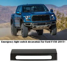 Car Emergency Warning Light Switch Decor Cover For Ford F150 2015+ Carbon Fiber