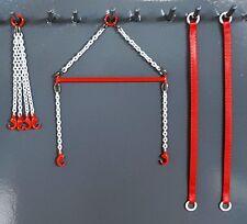 "Evot Brass Crane Spreader Bar Set 2.5"" Authentic Link Belt Red. 1:87th. USA Made"