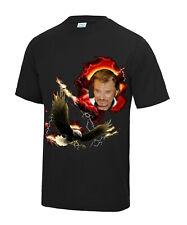 Tee shirt Johnny Halliday Aigle noir