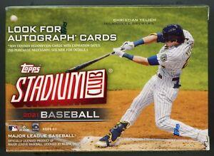 2021 Topps Baseball Stadium Club BLASTER BOX 8 Packs w/EXCLUSIVE SP Variation!!