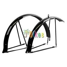 "JBikes Premium 26"" Universal Beach Cruiser Bicycle Fender Set Black"