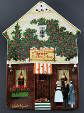 "Bradex Wysocki Folktown Collectable Plate ""Birdie'S Perch Coffee Shop"" (W6-4)"