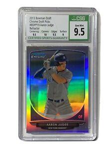 Aaron Judge 2013 Bowman Chrome Refractor Rookie Card Yankees CSG 9.5 Gem Mint