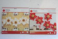 NEW Lot 2 MARTHA STEWART Tissue Paper POINSETTIA Flower Kit Christmas White RED