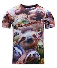 Sloths all over T-Shirt ( funny animal festival hipster novelty print tee )