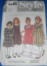 Style Girls Dress Or Pinafore Sewing Pattern 4191