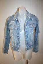 MISS SIXTY distressed denim jacket - size S, AU 8 - $249 NEW!