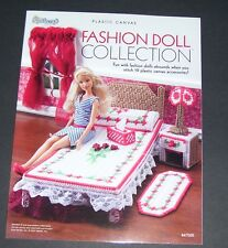 "NEEDLECRAFT PLASTIC CANVAS PATTERN BOOK 11 1/2"" FASHION DOLL COLLECTION 847505"