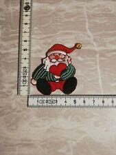 Weihnachtsmann Bügelbild Aufnäher Applikation Patch Aufbügler