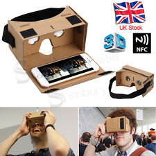 GOOGLE CARDBOARD HEADSET 3D VIRTUAL REALITY VR FOR SAMSUNG S6 S7 S8 iPHONE 7 6