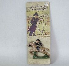VERY Vintage c 1950 Cowboy Hopalong Cassidy On Horse Cast Iron / Pewter Toy
