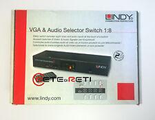 € 130+IVA LINDY 32584 VGA & Audio Selector Switch 1:8 VGA up to 2048x1536 (QXGA)