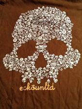 Ecko United Brown Paisley Graphics Skull T-shirt L 100% Cotton Ecko Unltd.