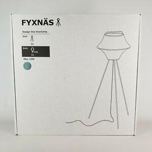 """Ikea FYXNÄS Tripod Floor lamp Fabric/Steel Turquoise 51"""" Fyxnas"""